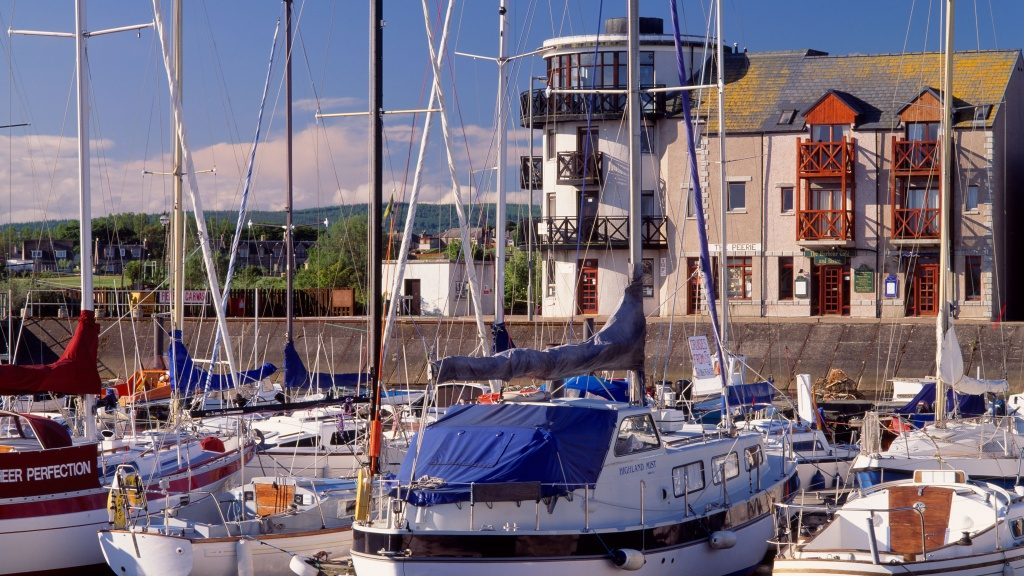 The apartment overlooks Nairn harbour
