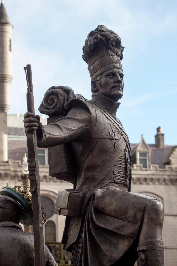 Gordon Highlanders Statue